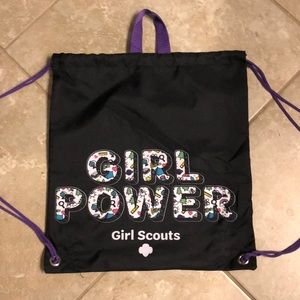 GSUSA girl power drawstring backpack
